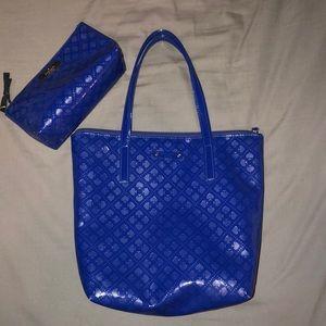 Kate Spade tote & matching makeup bag